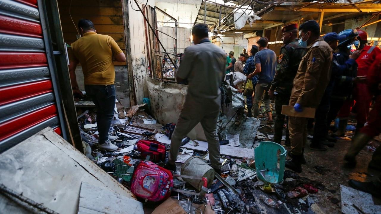 Bağdat'ta pazar yerine düzenlenen saldırıda ölü sayısı 30'a yükseldi