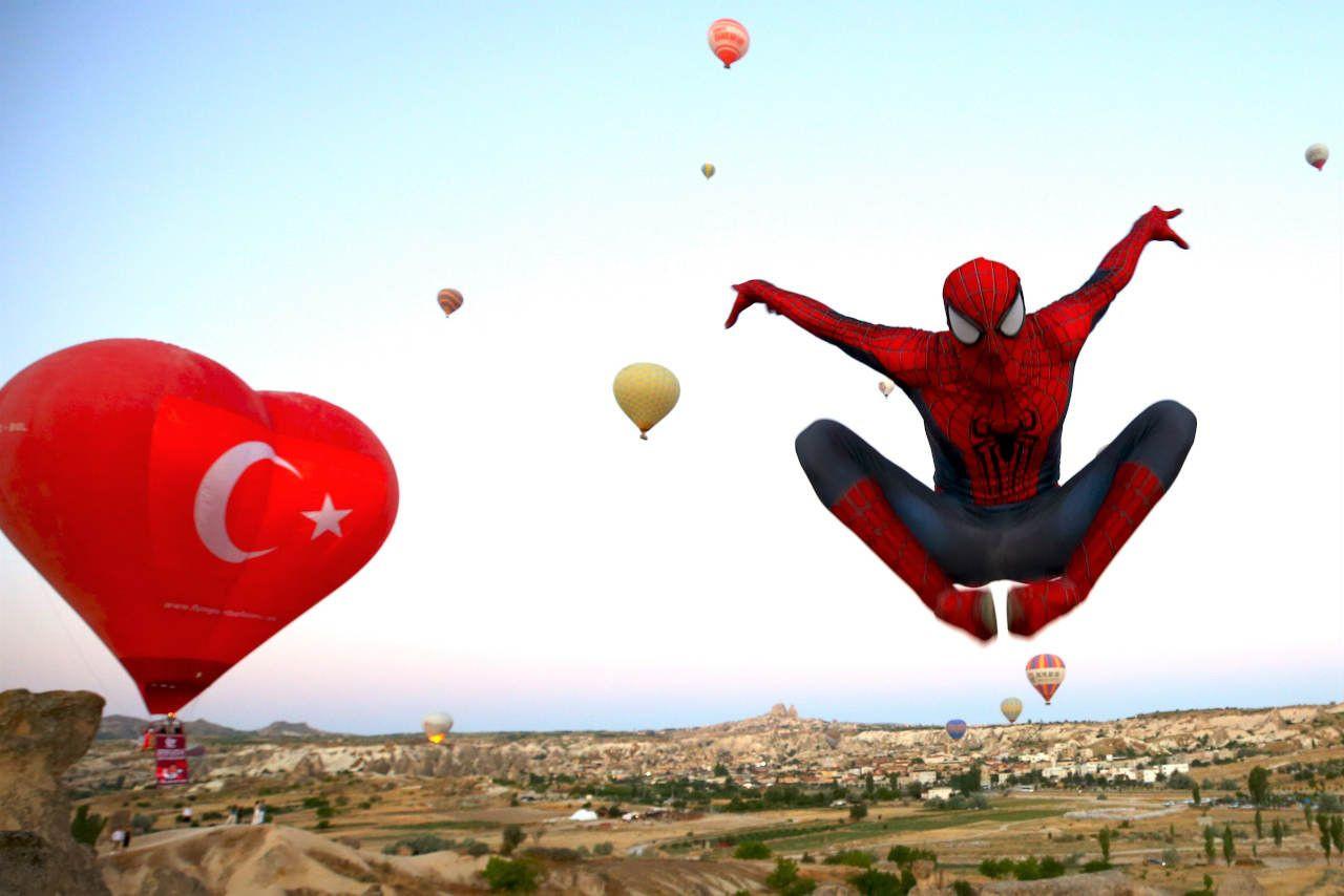 Örümcek Adam Kurban Bayramı tatilini Kapadokya'da geçirdi - Sayfa 1