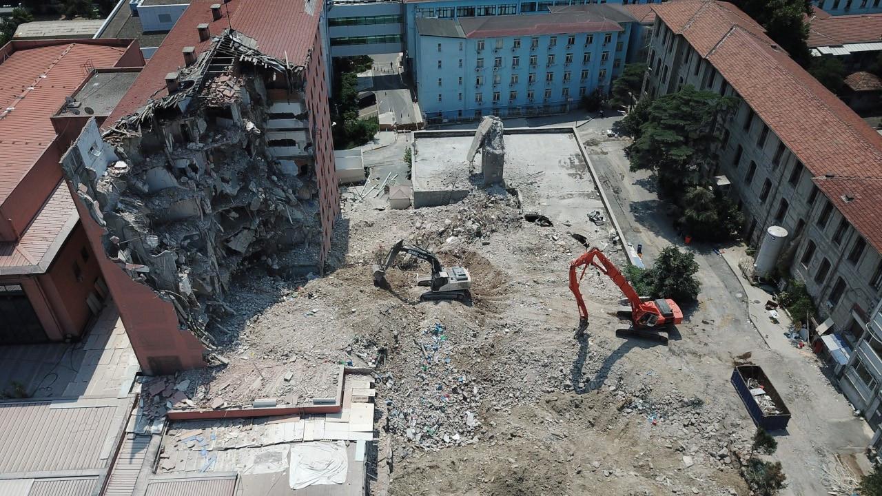 Haydarpaşa Numune Hastanesi'nin yıkımına başlandı