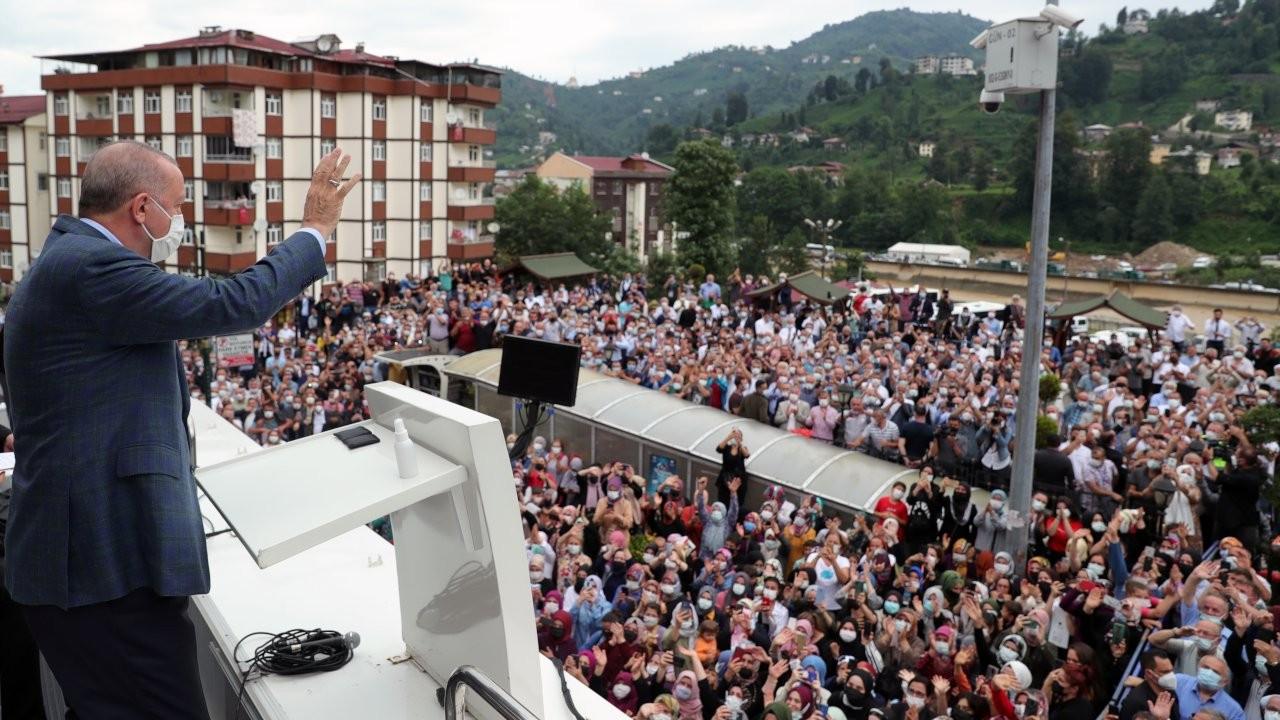 Erdoğan, Rize'de: İnsan felaketini kendi eliyle hazırlıyor