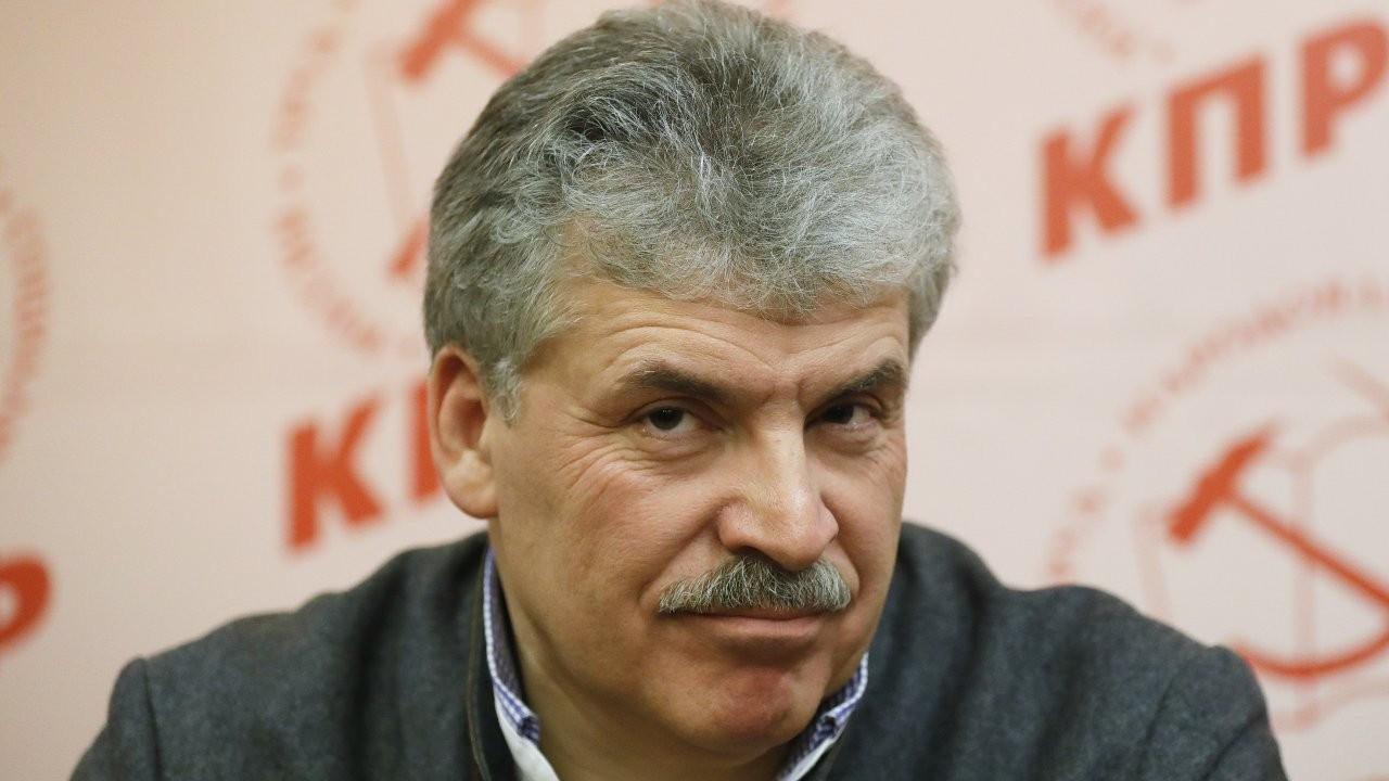 Rusya'da Grudinin'in Komünist Parti'den vekil adaylığına yasak geldi