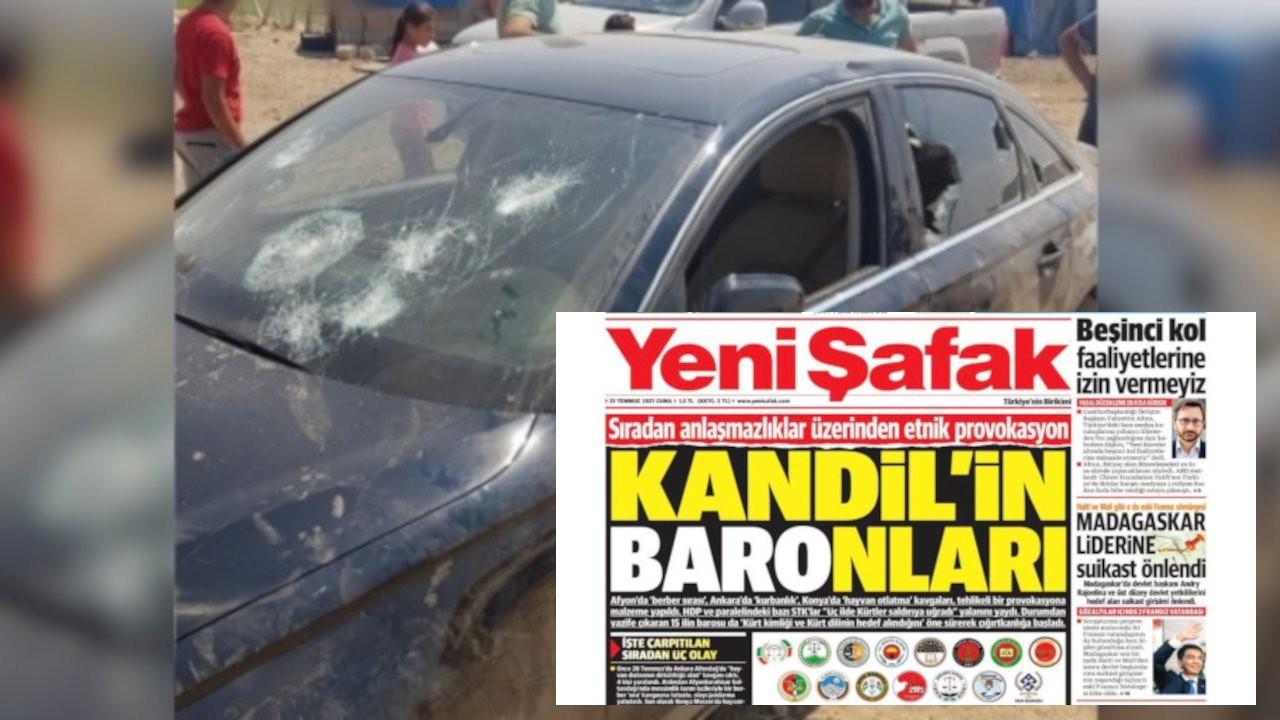 48 barodan 15 baroyu hedef gösteren Yeni Şafak'a tepki