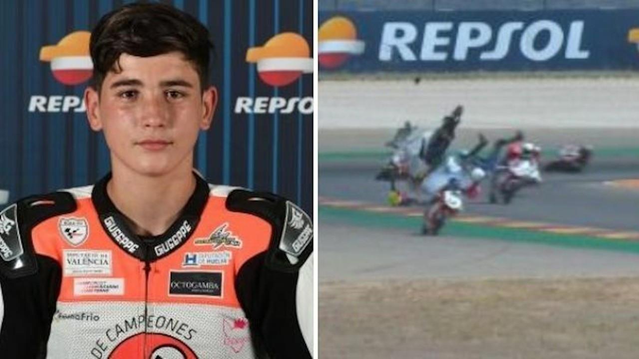 14 yaşındaki İspanyol motosikletçi, geçirdiği kaza sonucu vefat etti