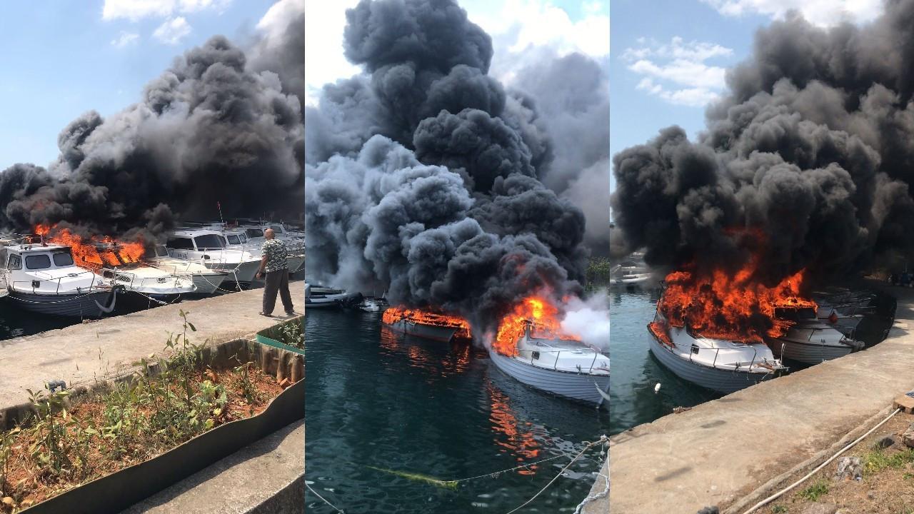Maltepe'de 8 tekne yandı