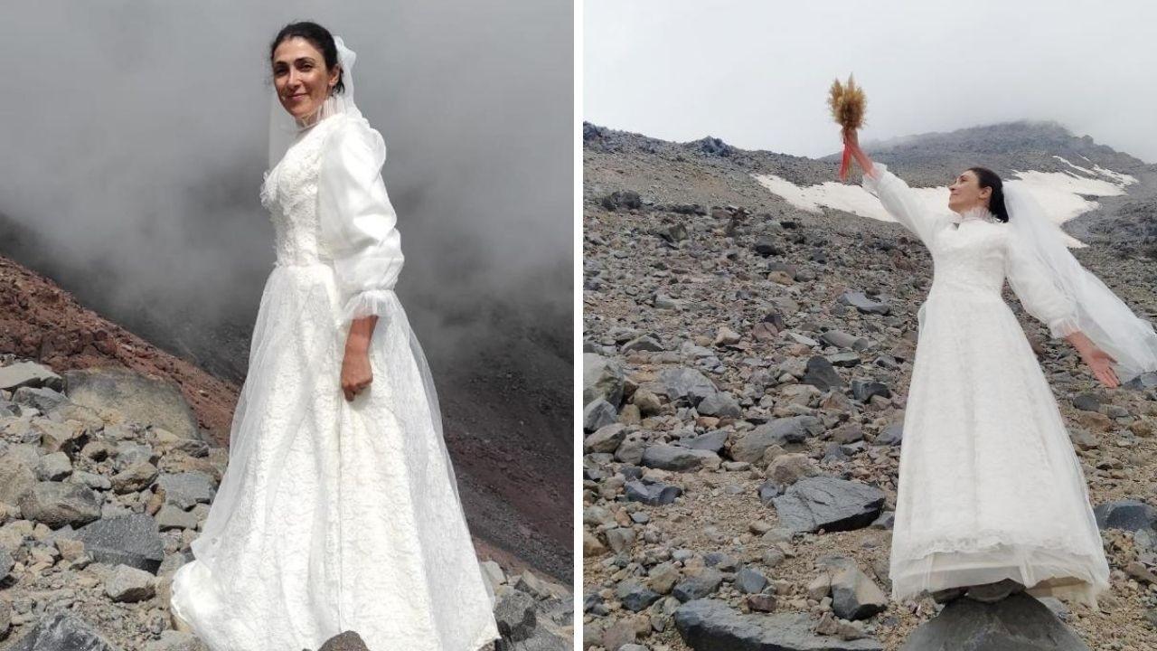 Dağcı Sevgül Eraslan Ağrı Dağı ile evlendi