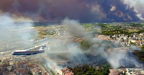 Manavgat'ta felaket: Alevler dört bir yanı sardı - Sayfa 1