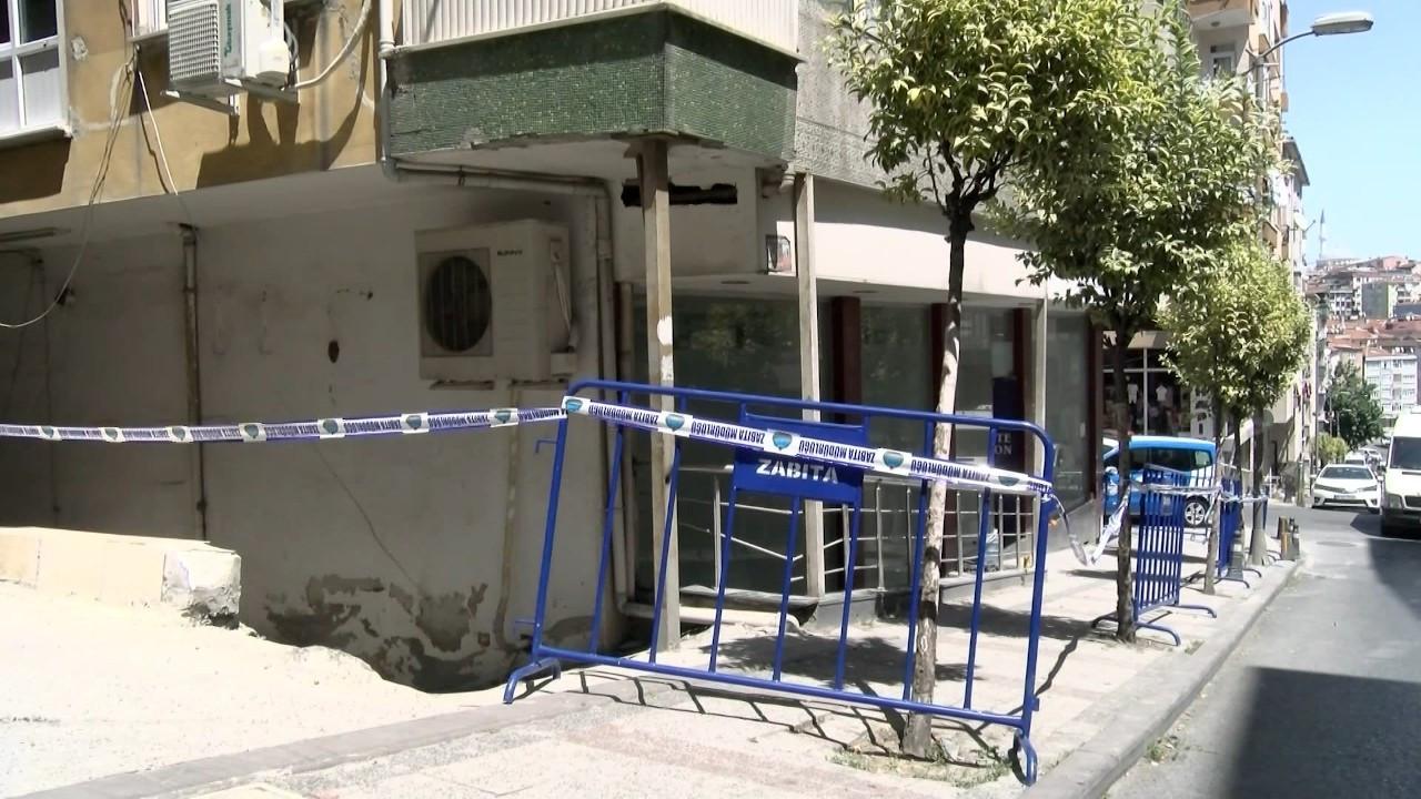 Tahliye edilen binanın betonunda midye kabukları bulundu
