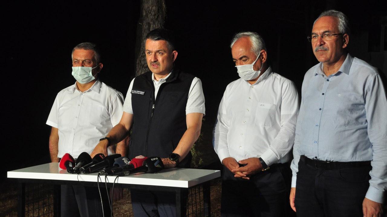 Pakdemirli: Manavgat'ta yangından etkilenen alan 600 hektar demiştik, en az 4 katına çıkacağını görüyoruz'