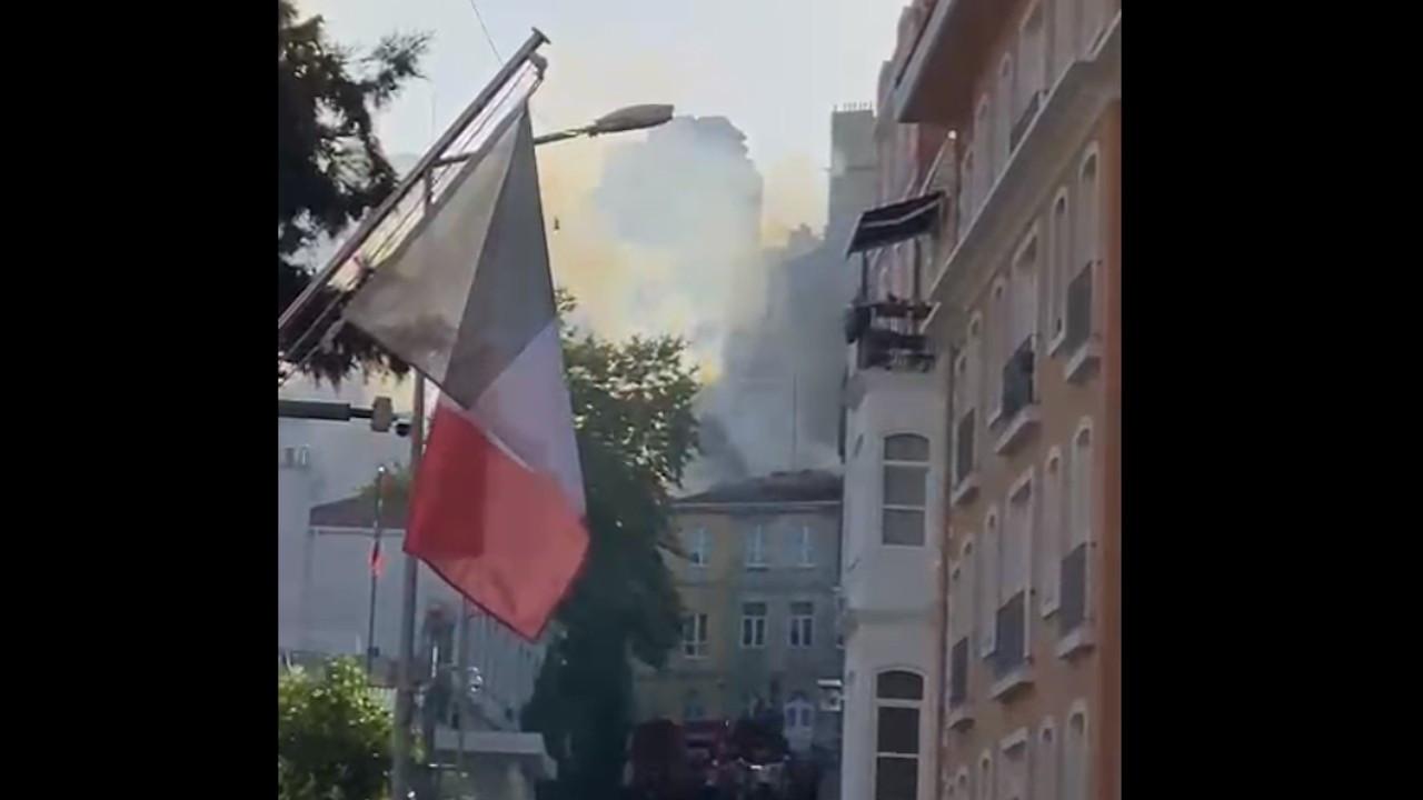 Pierre Loti Fransız Lisesi'nde yangın