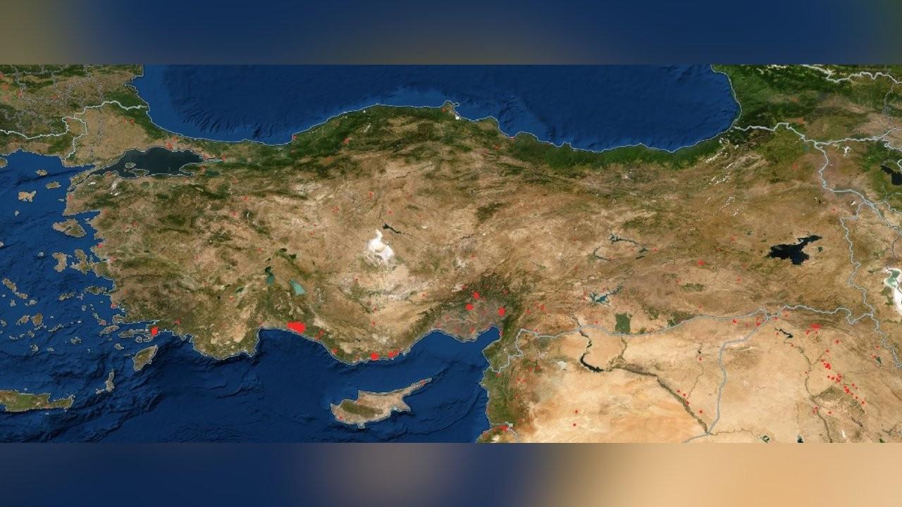 Türkiye'deki orman yangınları NASA tarafından görüntülendi