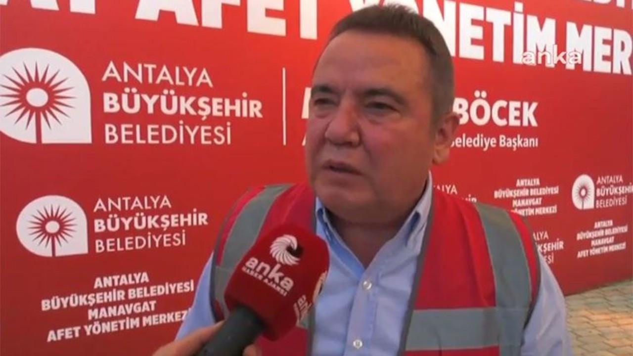 Antalya Belediye Başkanı Muhittin Böcek: Bizi kurtarın, yanıyoruz
