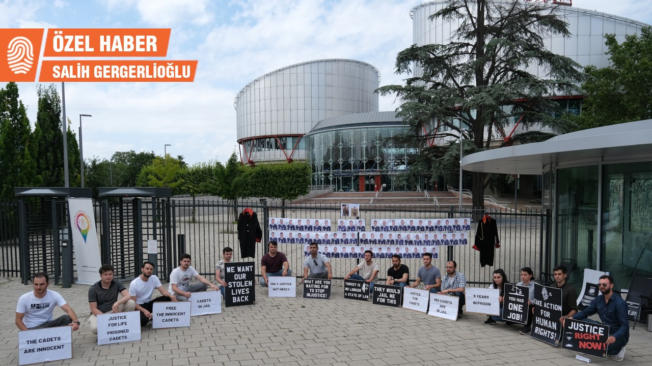 AİHM önünde 'tutuklu Harbiyeliler' eylemi