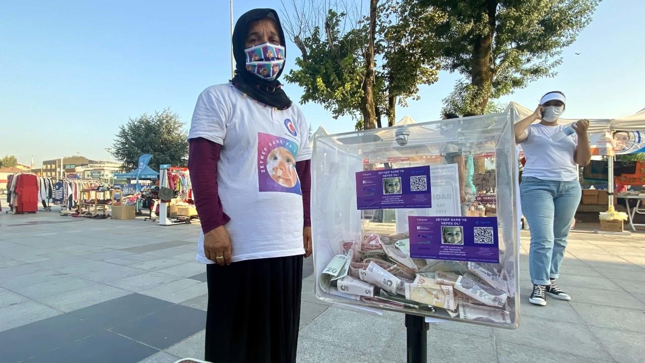 SMA hastası çocuk için kurulan stanttaki bağış kutusu çalındı