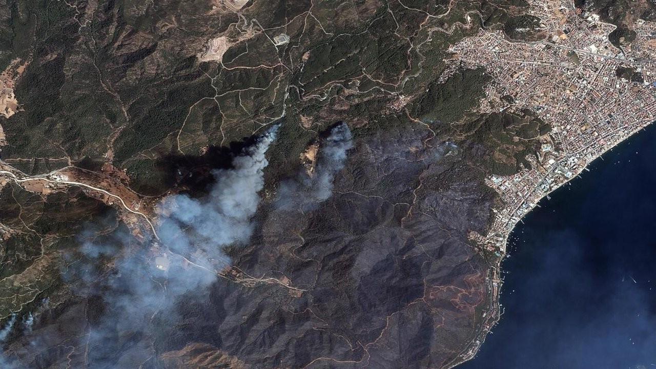Marmaris ve Manavgat yangınları uzaydan görüntülendi