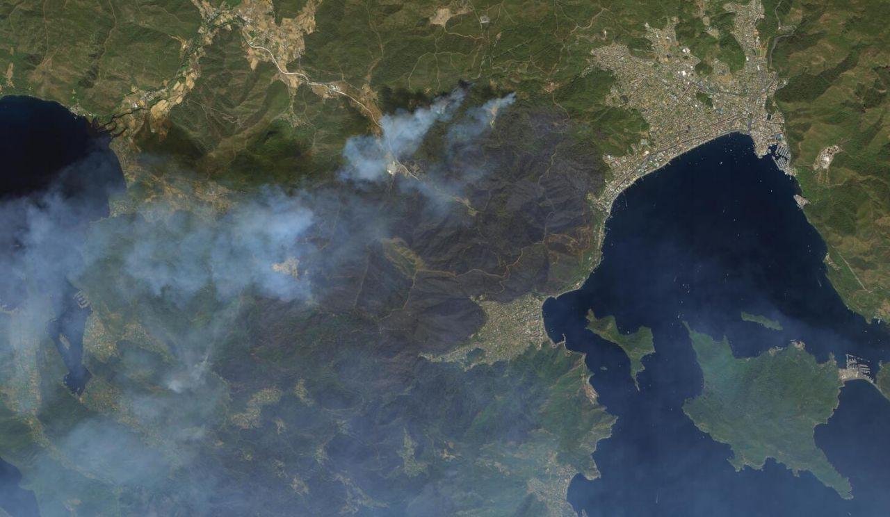 Marmaris ve Manavgat yangınları uzaydan görüntülendi - Sayfa 1