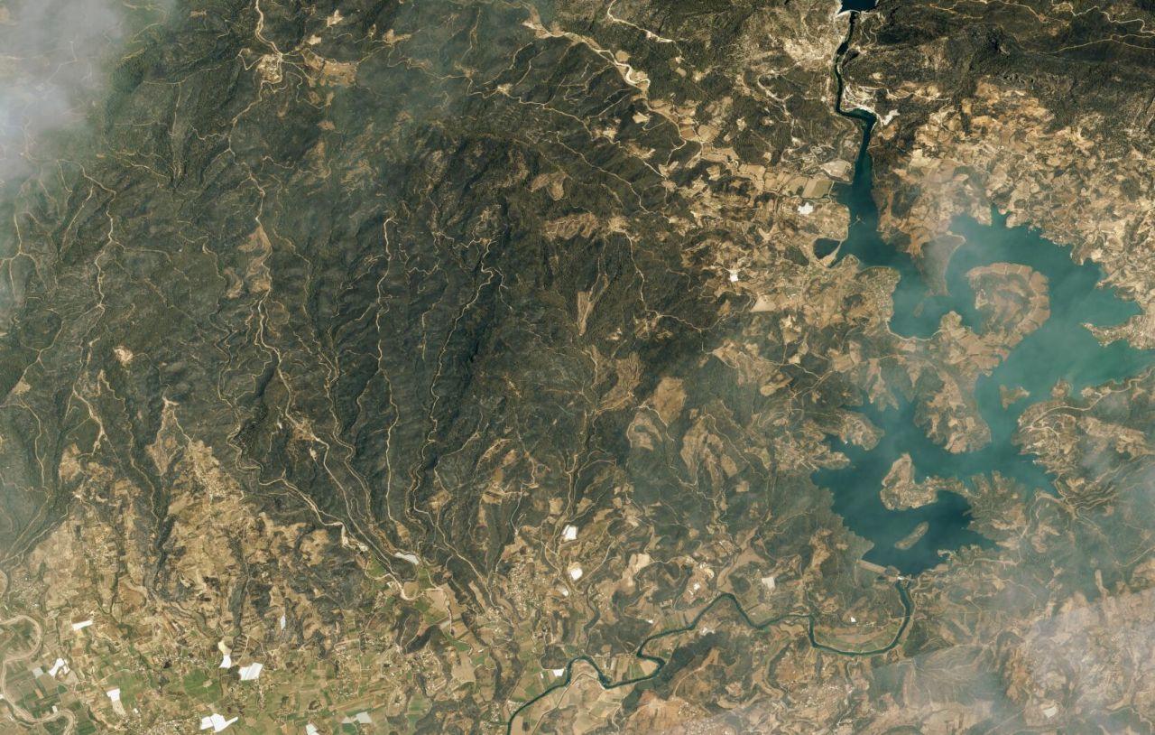 Marmaris ve Manavgat yangınları uzaydan görüntülendi - Sayfa 4