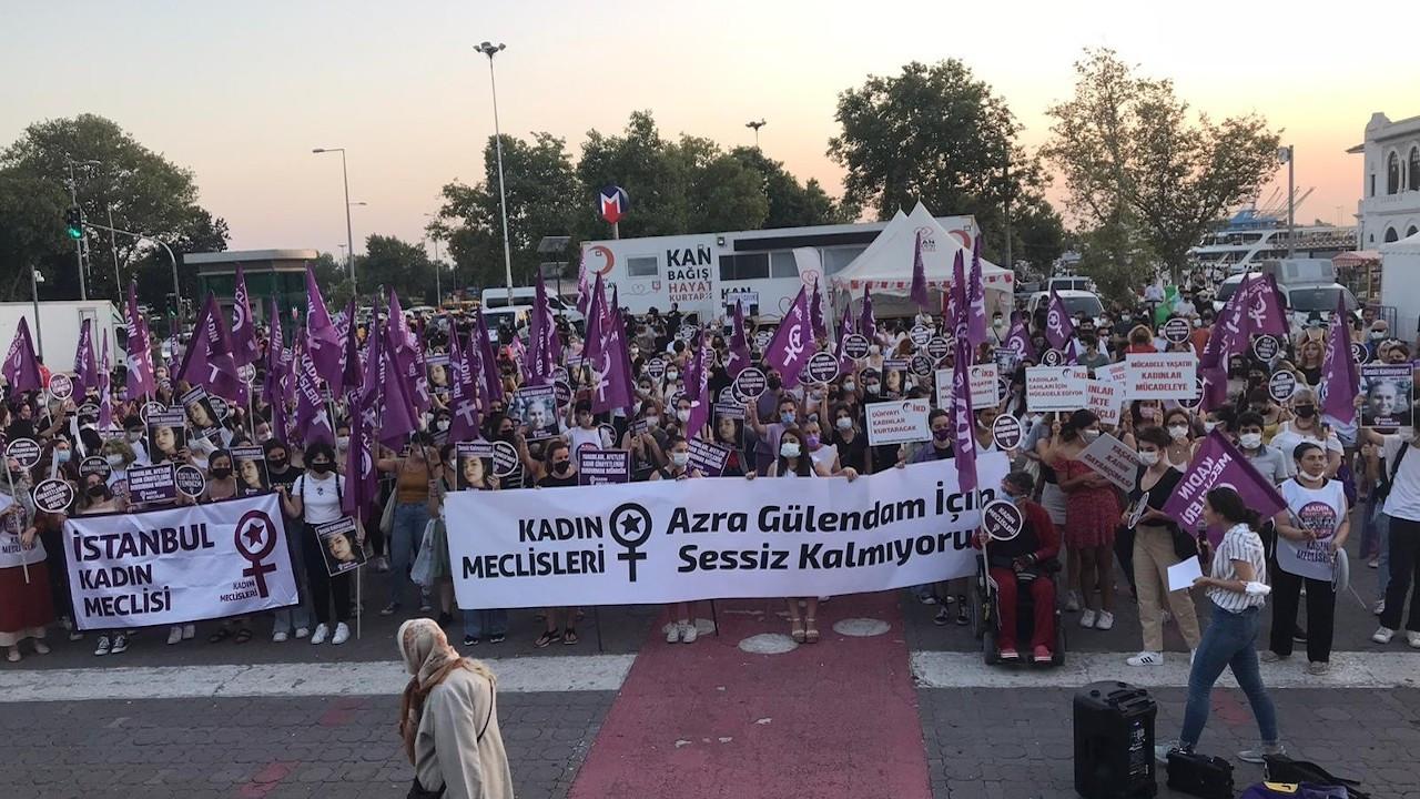 Kadıköy'de Azra Gülendam Haytaoğlu için eylem