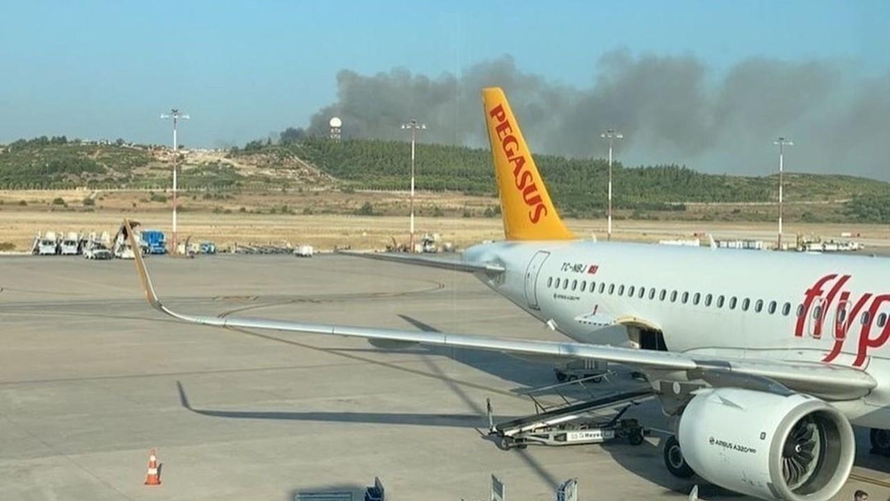 Adnan Menderes Havalimanı yakınında yangın