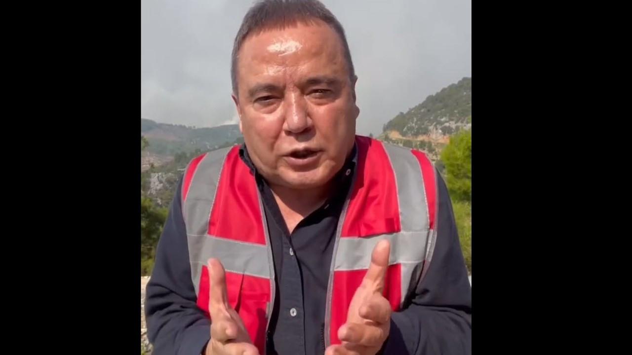 Antalya Belediye Başkanı Muhittin Böcek: Yardım edin, yanıyoruz