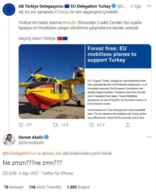 Avrupa Birliği Demet Akalın'ın sorusunu yanıtladı: Sosyal medyada gündem oldu - Sayfa 1