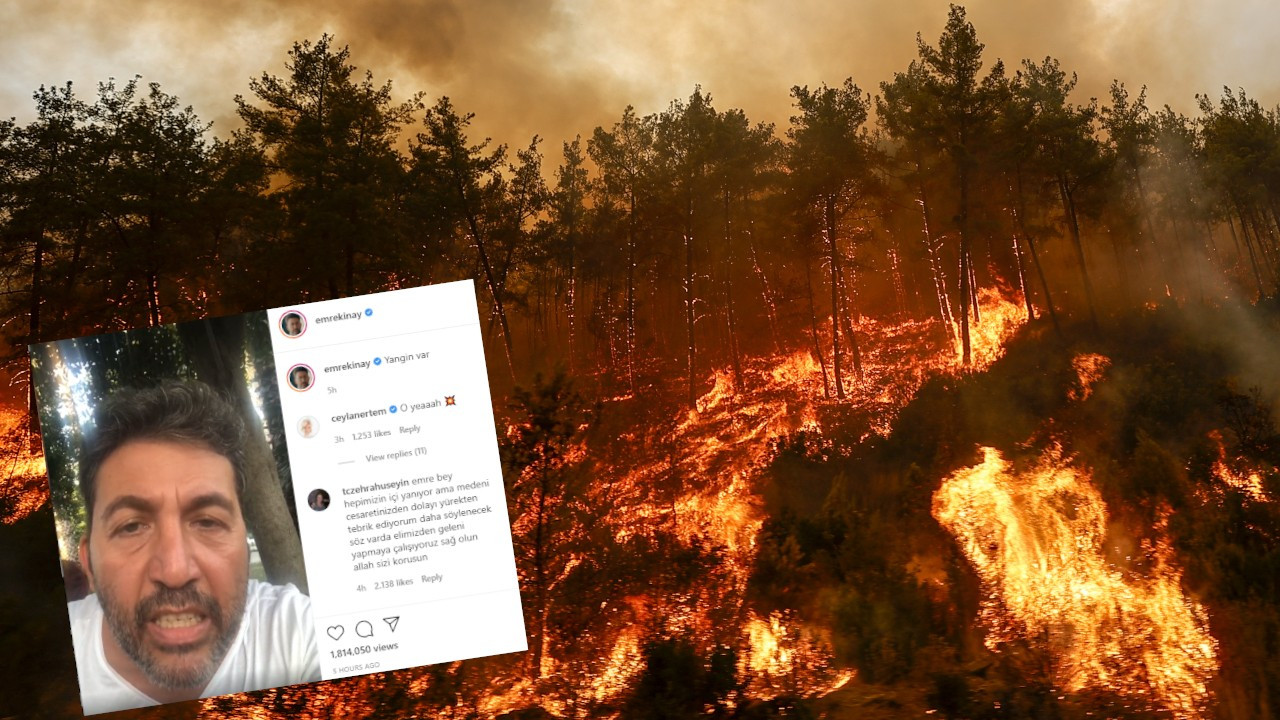 Emre Kınay'ın yangın isyanı: Ülke yanıyor, hiç utanmanız yok mu?
