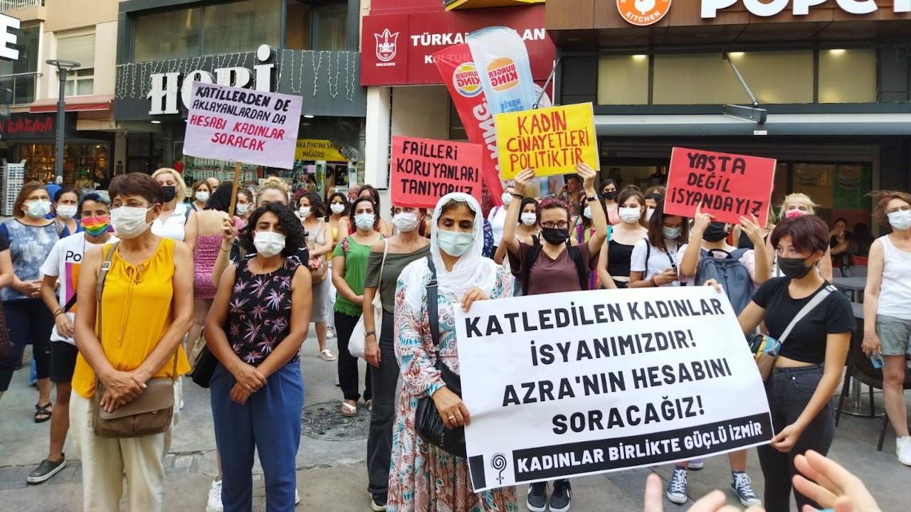 Azra Hayatoğlu'nun katledilmesi İzmir'de protesto edildi