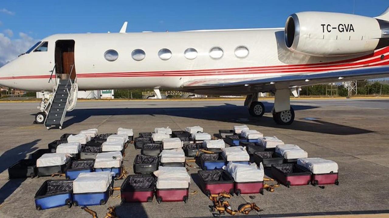 Türk firmanın bir İspanyol'a kiraladığı jette 1.3 ton kokain yakalandı