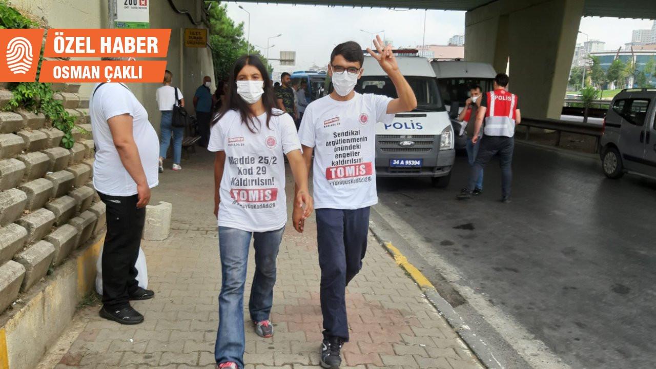 Ankara'ya yürüyen Sinbo işçisi 5. kez gözaltına alındı