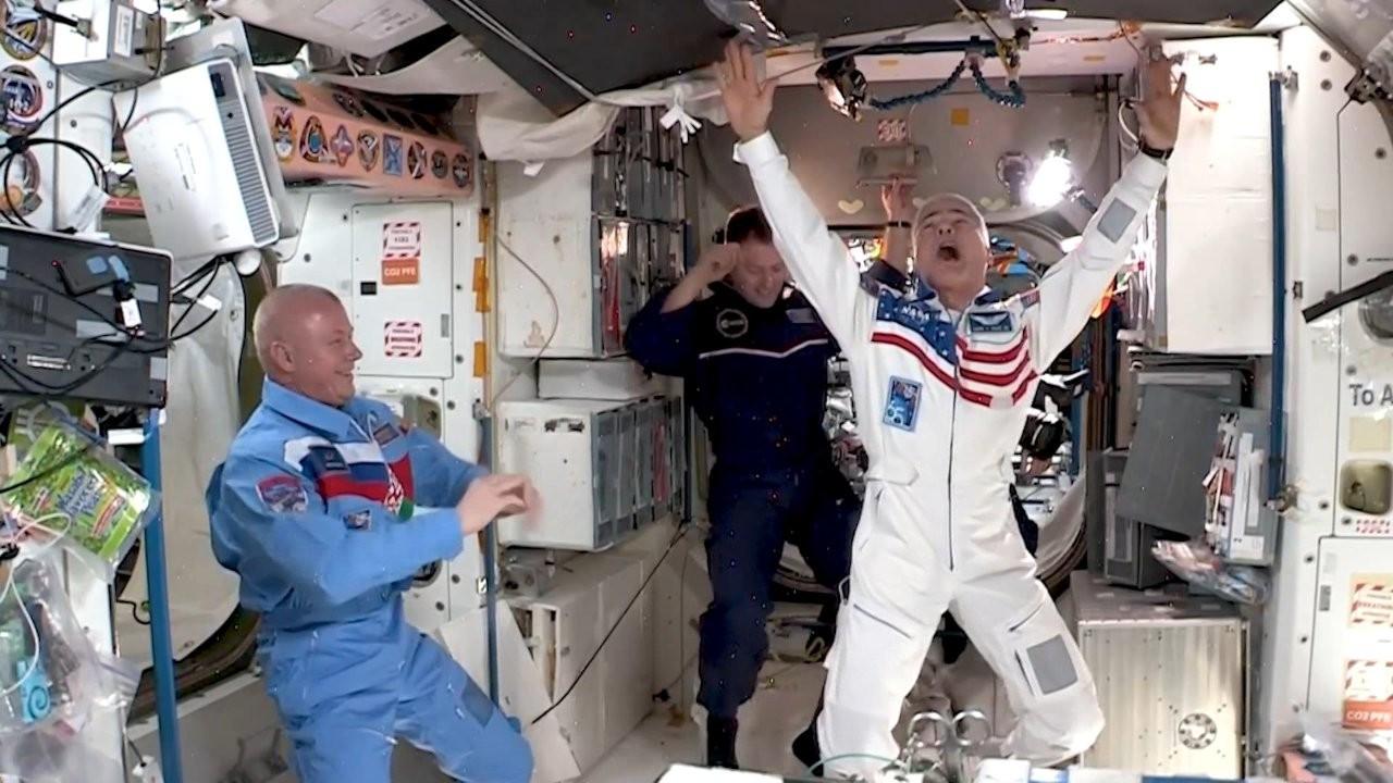 Uluslararası Uzay İstasyonu'nda 'uzay oyunları' düzenlendi