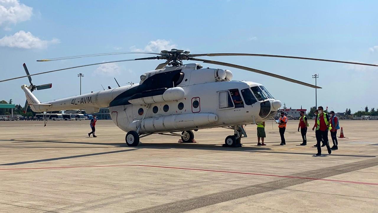 THY: Yangınlarla mücadele için iki helikopter kiraladık