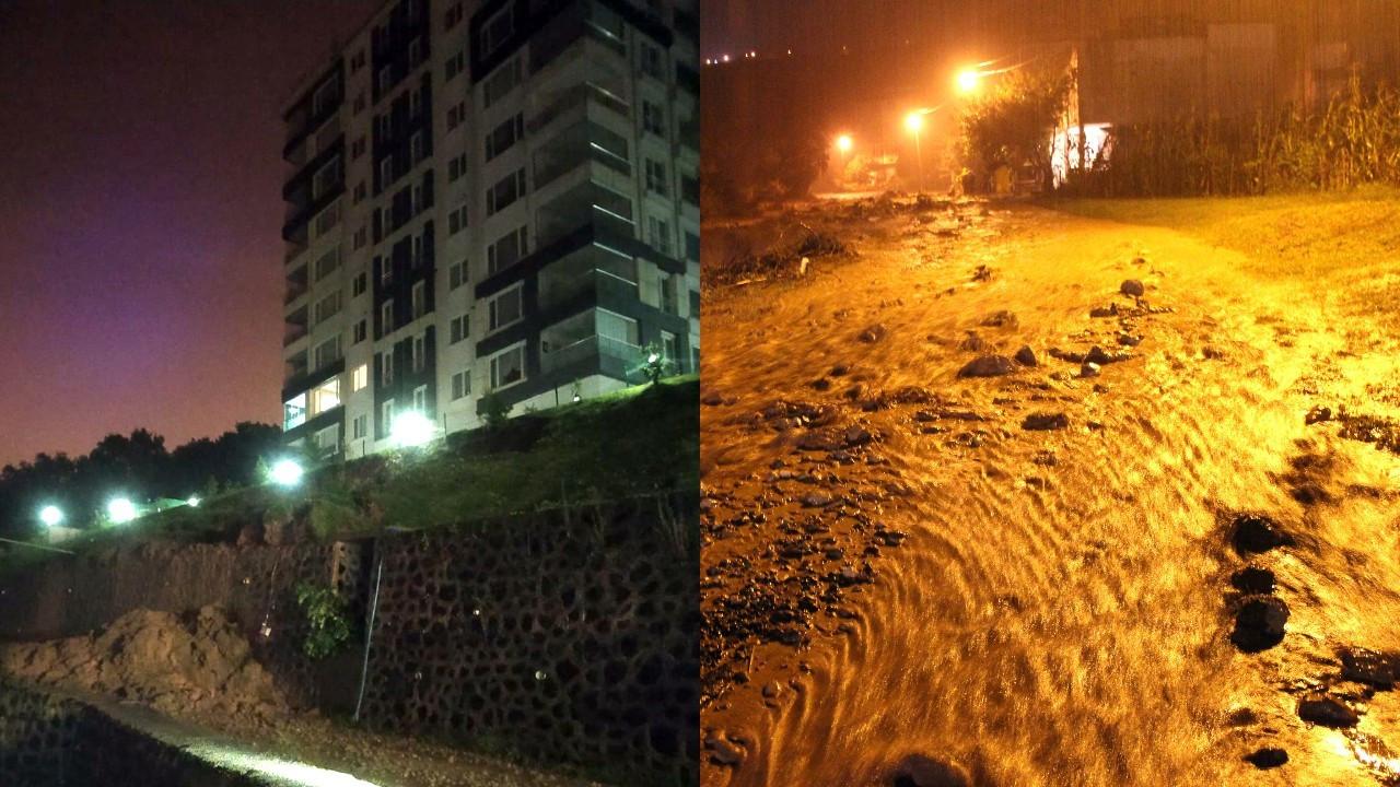 Ordu'da sağanak: 36 daireli bina boşaltıldı