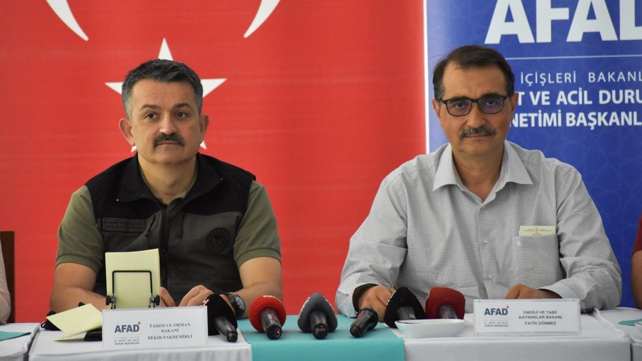 Pakdemirli: Antalya ve Muğla'daki bölgeleri avlanmaya kapattık