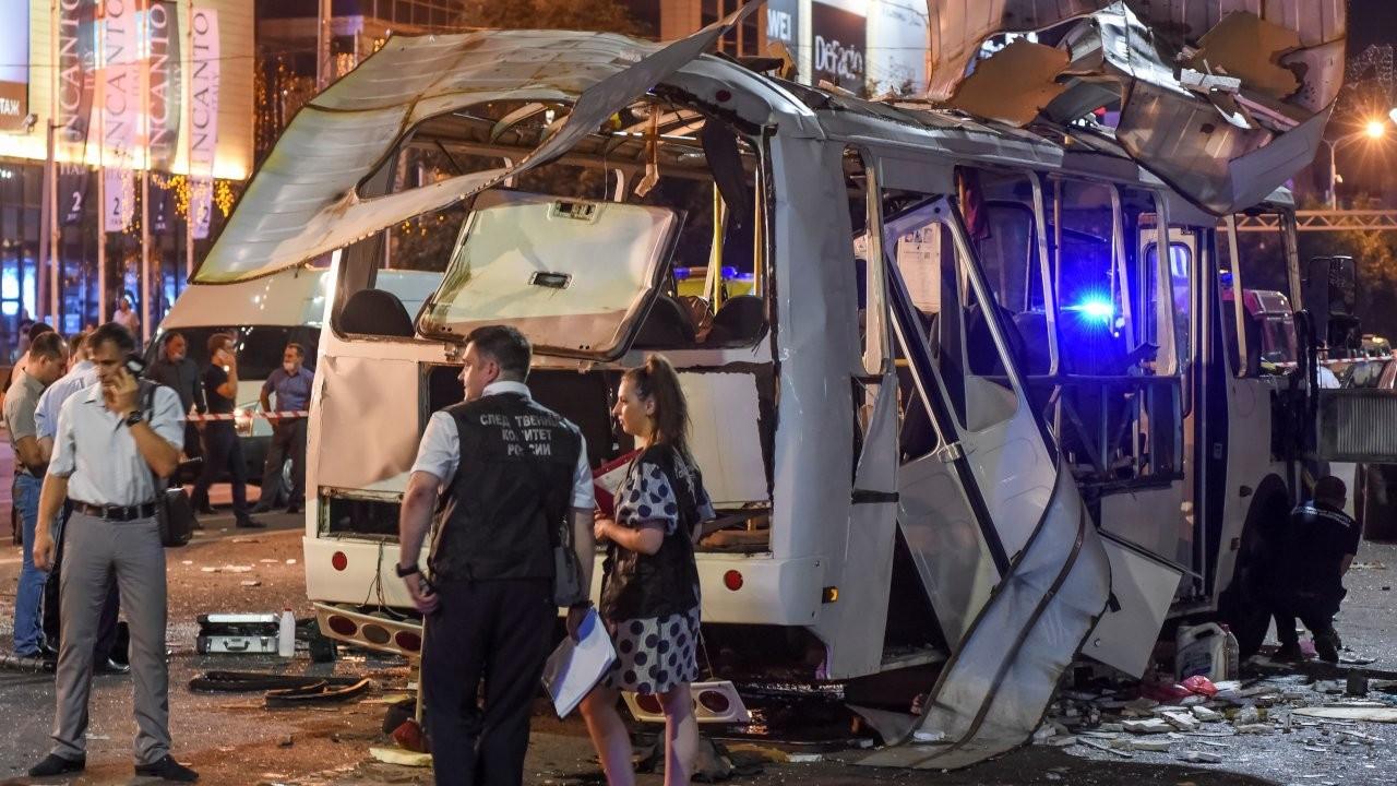 Rusya'da yolcu otobüsünde patlama: En az 1 ölü, 15 yaralı