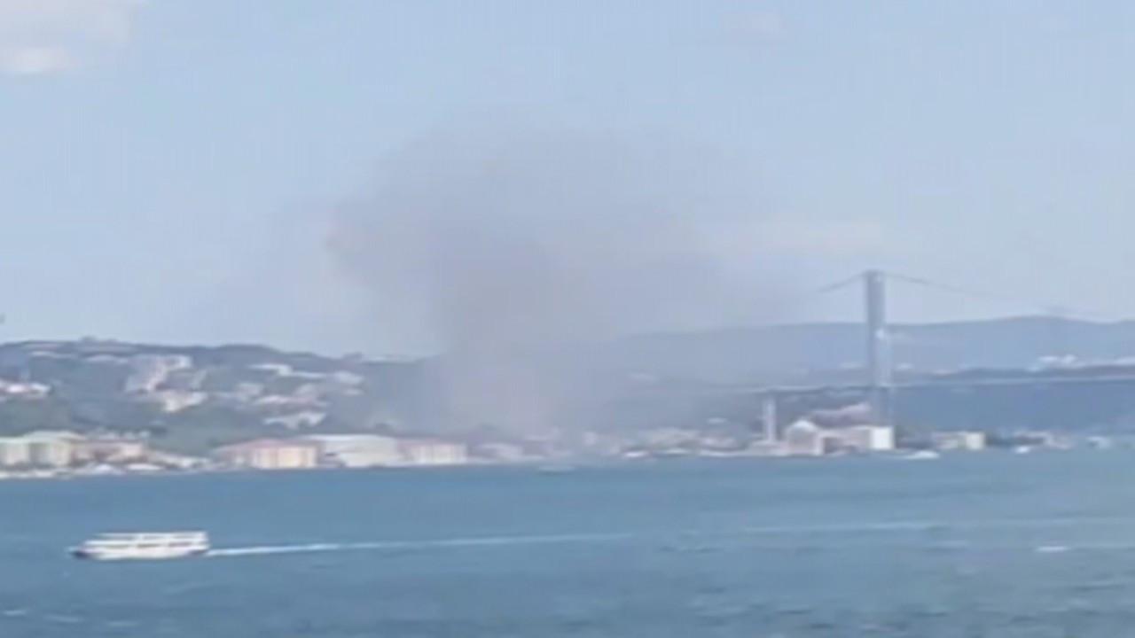 Ortaköy'de 8 katlı otel inşaatında yangın