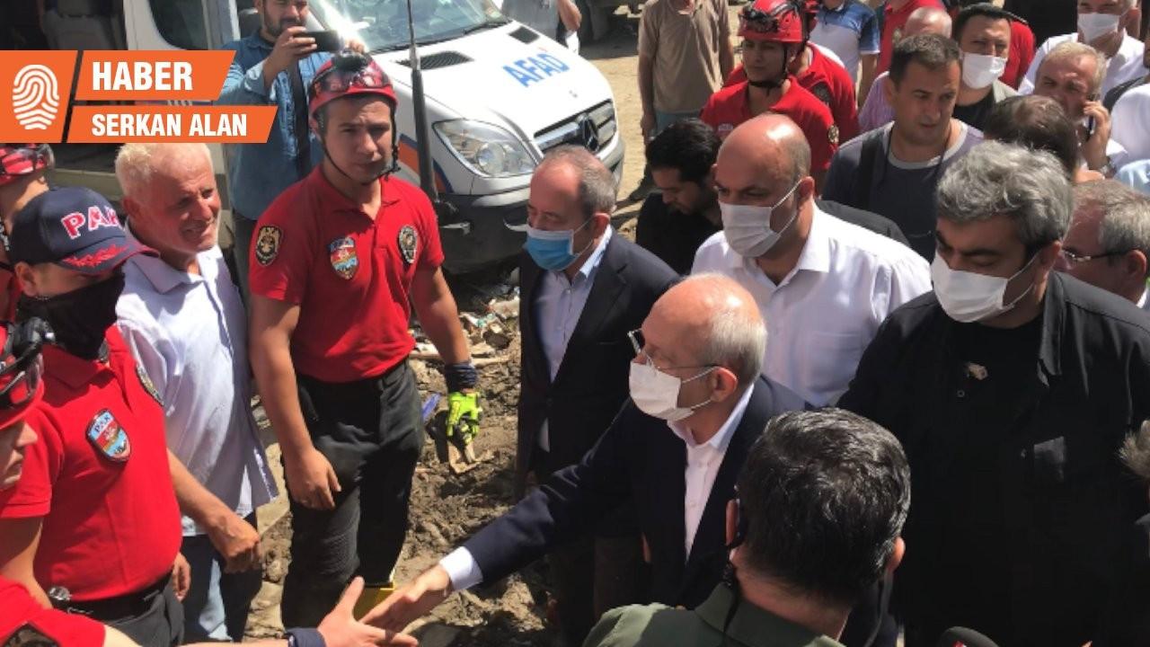 Kılıçdaroğlu selden etkilenen Bozkurt'ta: Dere kenarlarında yapılaşmaya izin vermememiz lazım