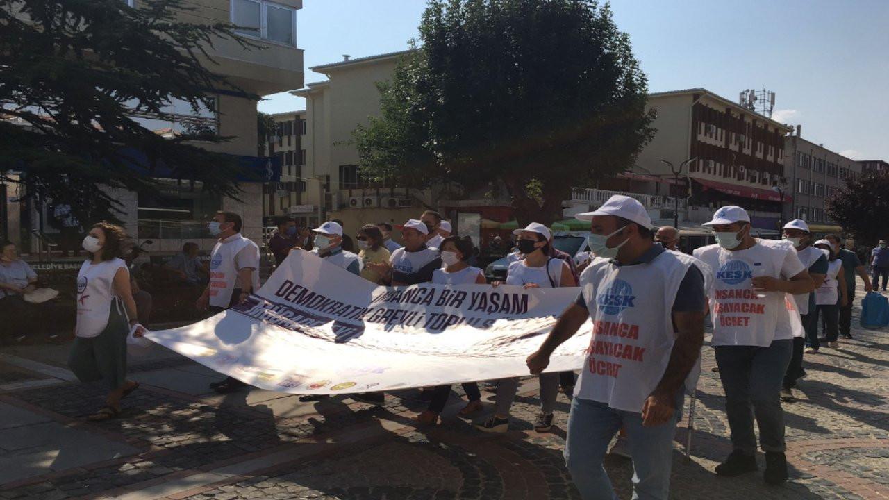 KESK üyeleri Ankara'ya iki koldan yürüyüş başlattı