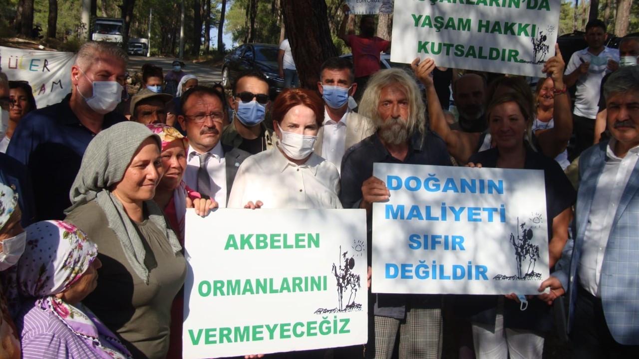 Meral Akşener Akbelen'deki nöbet eylemini ziyaret etti