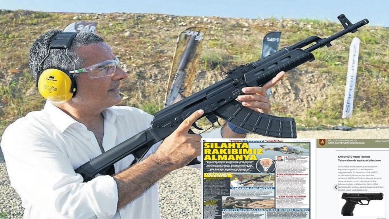 'Silah firması tanıtan Hakan Çelik, tüfekli fotoğraf da çektirdi'