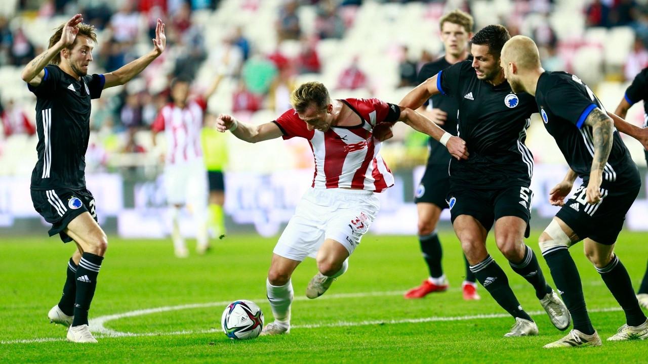 Sivasspor tur şansını Danimarka'ya bıraktı
