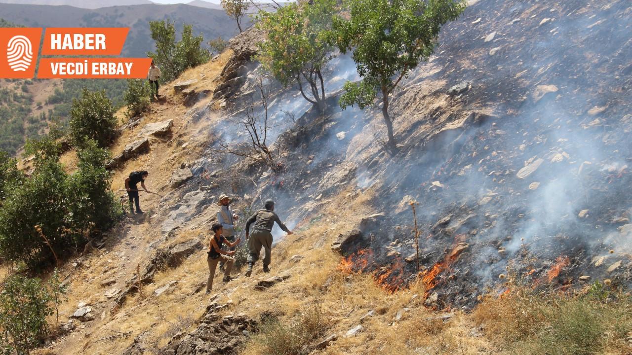 Şemdinli 3 gündür yanıyor ama başkana göre tepkiler 'yaygara'