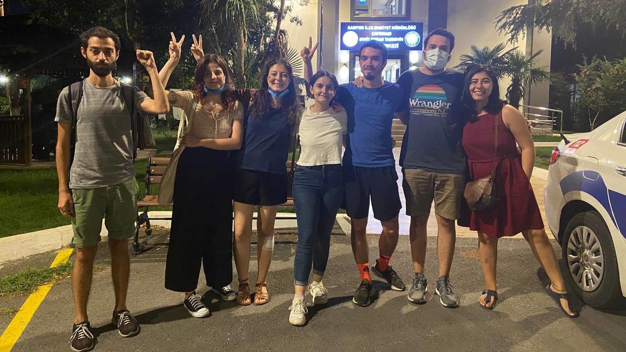 AK Parti önünde gözaltına alınan Boğaziçi öğrencileri serbest