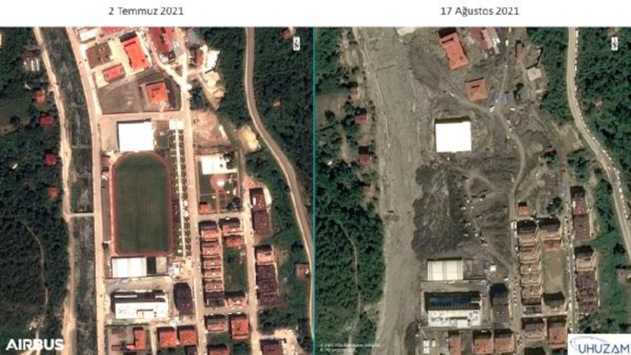 İTÜ uydu görüntülerini paylaştı: Selden önce, selden sonra...