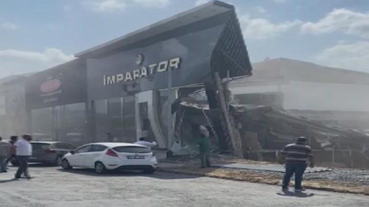 İstanbul Masko Sanayi Sitesi'nde tek katlı işyeri çöktü