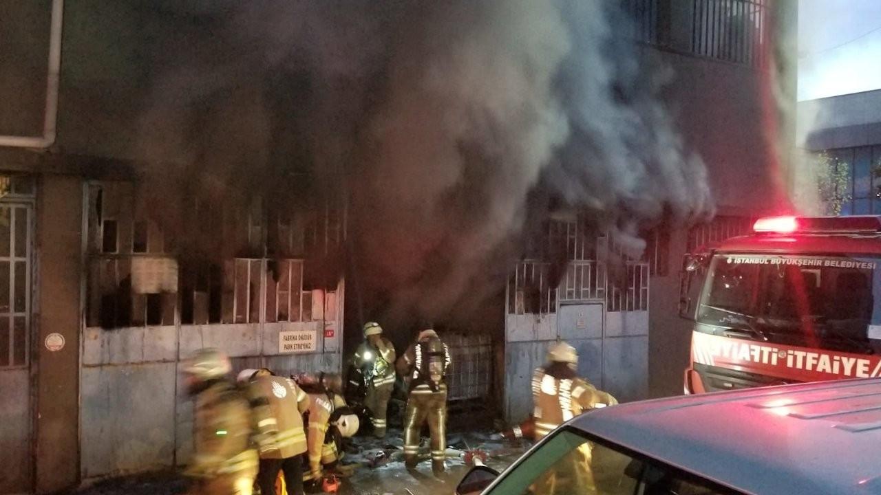 İstanbul'da ambalaj fabrikasında yangın