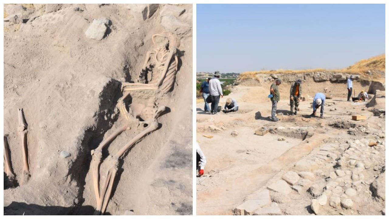 Arslantepe Höyüğü'nde bin yıllık mezarlar bulundu