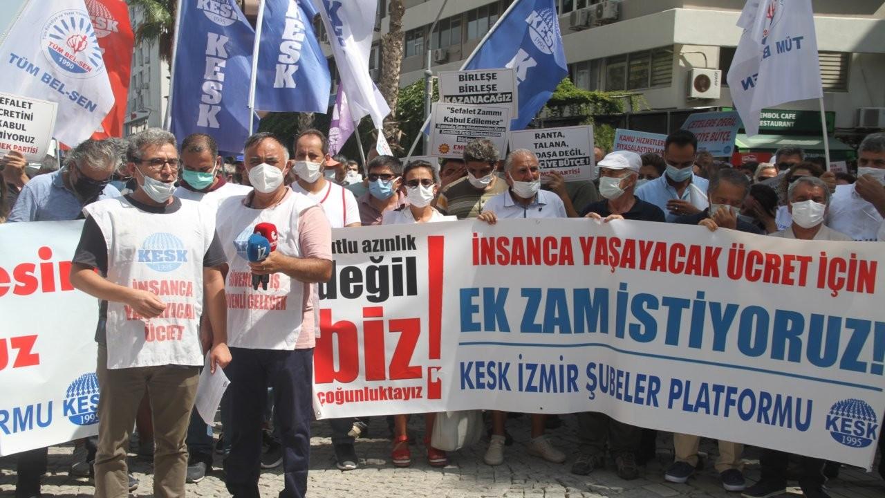 Kamu emekçileri İzmir'de de alandaydı: Bu toplu sözleşme geçersizdir