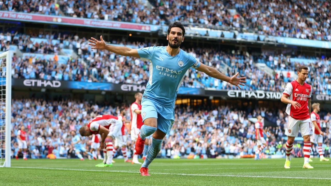 Manchester City, Arsenal'i 5 golle geçti