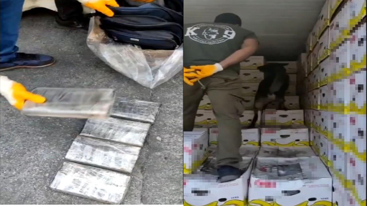 Mersin Limanı'ndaki muz yüklü konteynerde 30 kilo kokain ele geçirildi