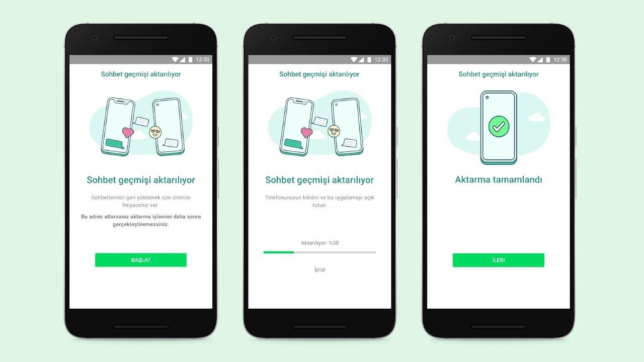 WhatsApp'a iOS'tan Android'e sohbet taşıma özelliği geldi