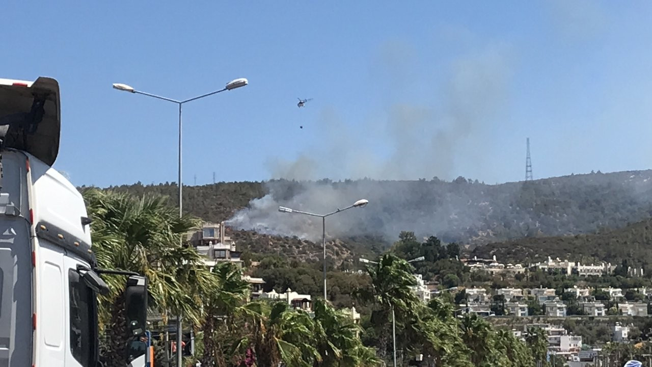 Bodrum Umurça mahallesinde yangın çıktı